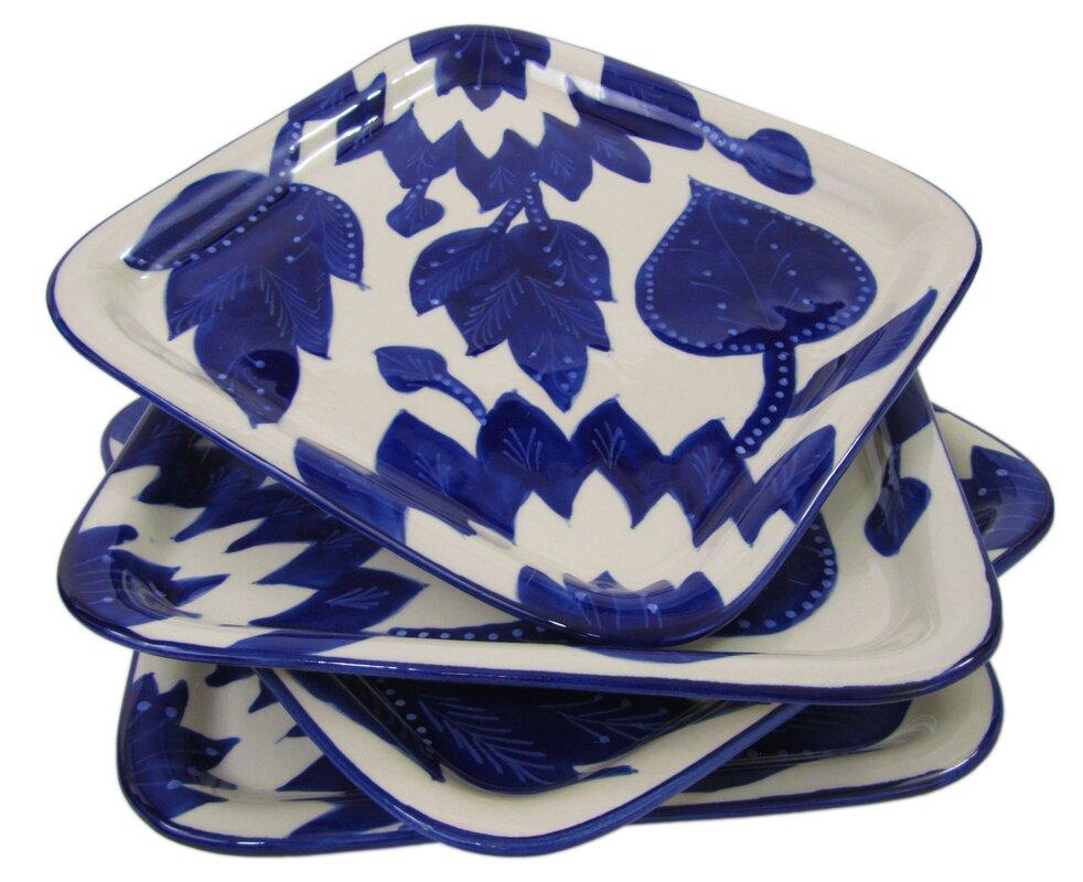 Jinane Square Stoneware 9\  Dinner Plate  sc 1 st  Wayfair & Le Souk Ceramique Jinane Square Stoneware 9\