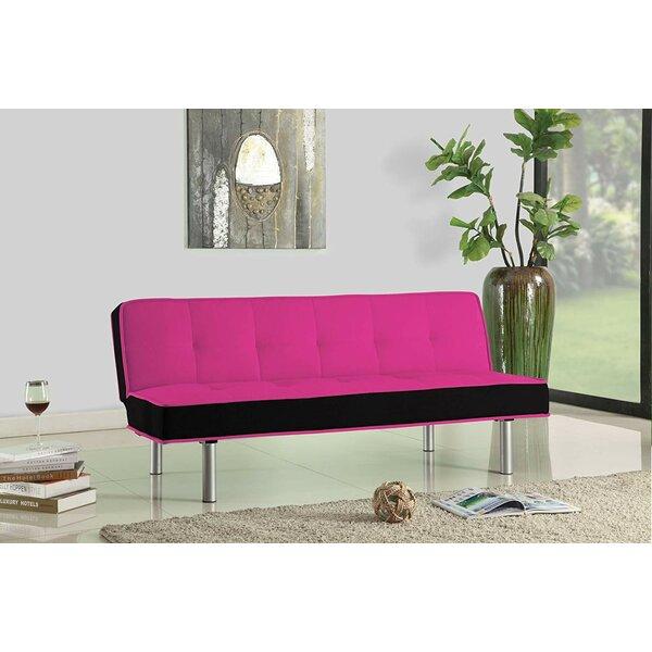 Maud Sturdy Flannel Fabric Adjustable Convertible Sofa by Latitude Run