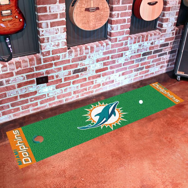 NFL Miami Dolphins Putting Green Mat by FANMATS