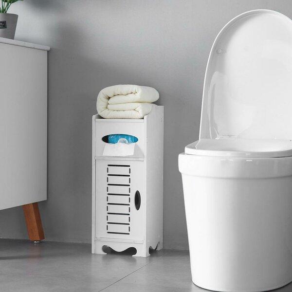 Elbum 9'' W x 24'' H x 2'' D Free-Standing Bathroom Cabinet