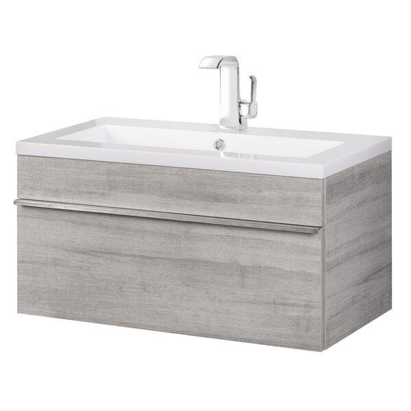 Trough 30 Wall Mounted Single Bathroom Vanity Set