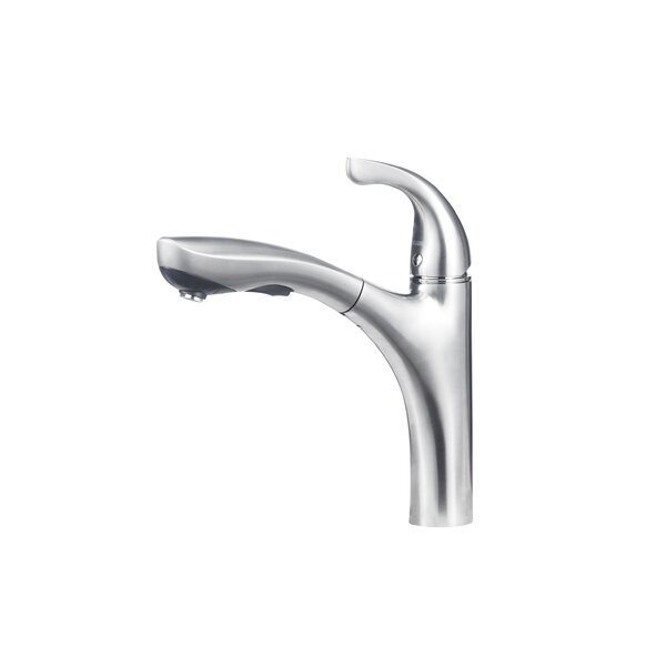 Hiland Single Handle Deck Mounted Standard Kitchen Faucet with Dual Pull Out Spray by Blanco