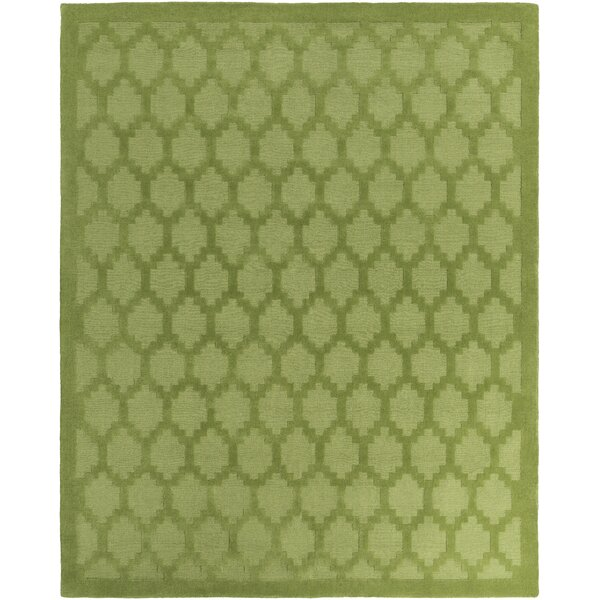 Bracey Hand-Loomed Green Area Rug by Wrought Studio