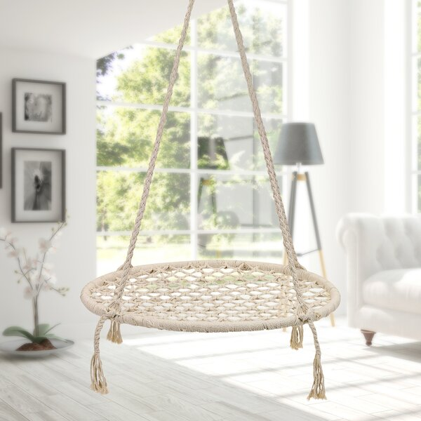 Guffey Handmade Knitted Swing Chair By Bungalow Rose