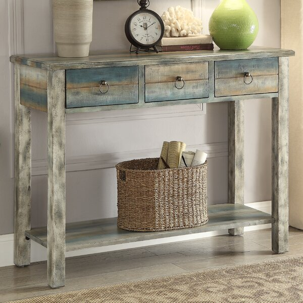 Philbrick Antique Console Table by World Menagerie