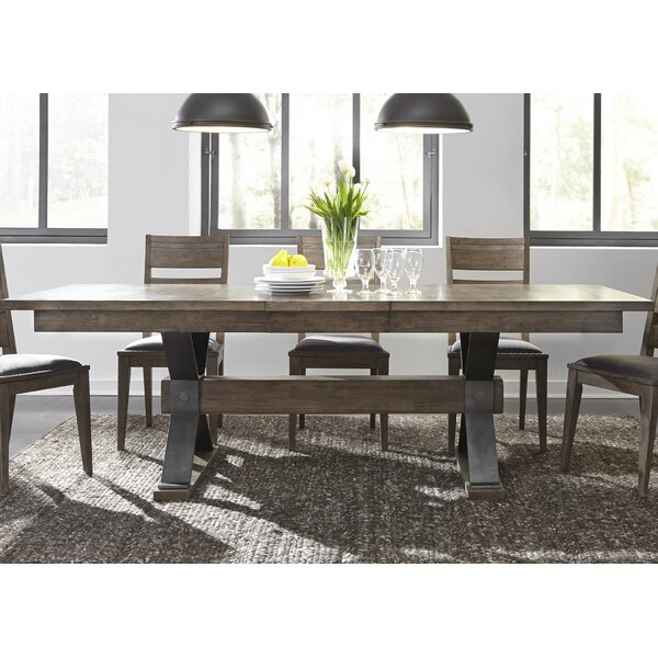 Cleaver Trestle 8 Piece Extendable Dining Set by Gracie Oaks