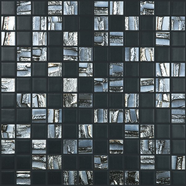 Moon Blends 12.375 W x 12.375 L Eco Glass Mosaic in Shimmer Rock by Kellani