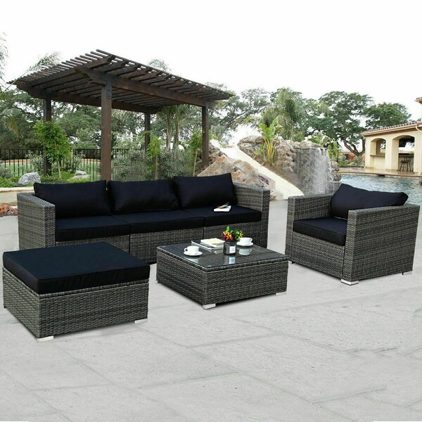 Danniell Patio 6 Piece Rattan Sectional Seating Group With Cushions By Latitude Run by Latitude Run Spacial Price