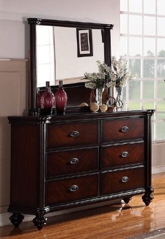 Farrer 6 Drawer Double Dresser with Mirror by Astoria Grand