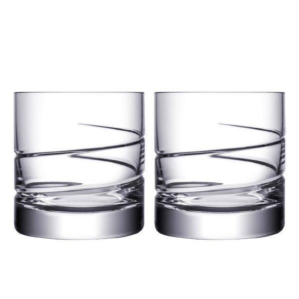 Swerve DOF 13 oz. Crystal Cocktail Glass (Set of 2) by Orrefors