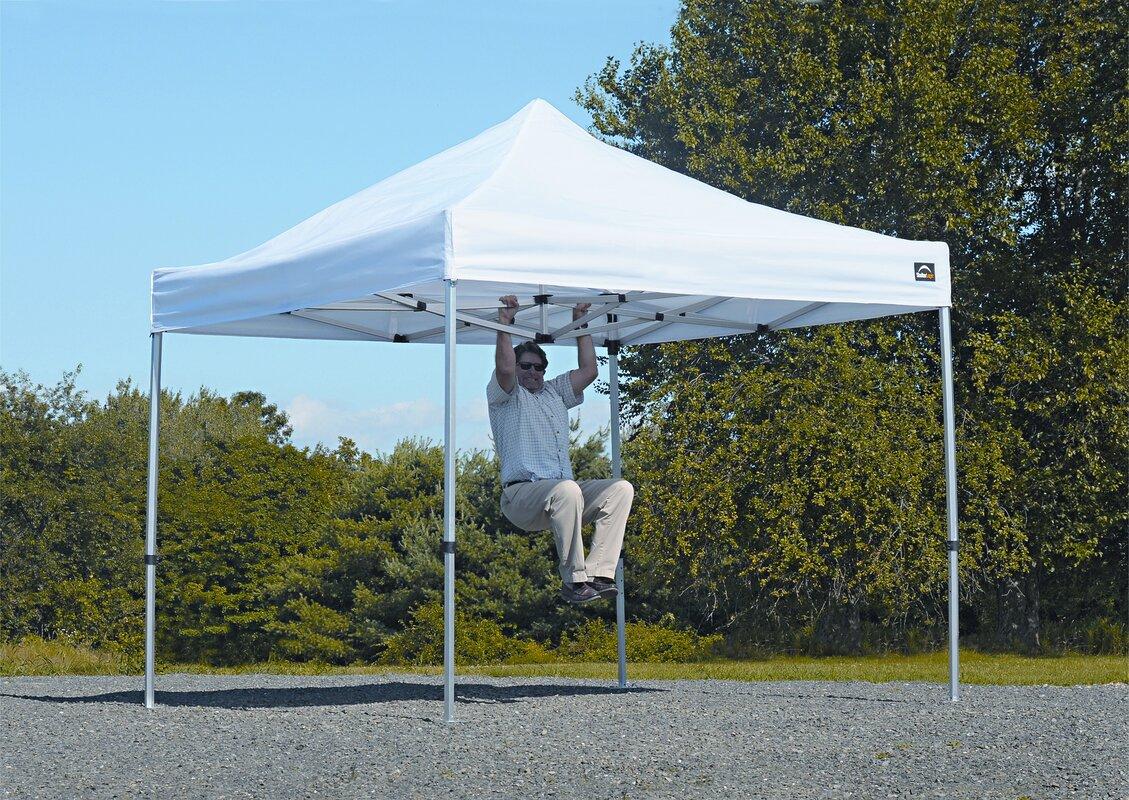 Alumi Max 10 Ft. W x 10 Ft. D Aluminum Pop-Up Canopy & ShelterLogic Alumi Max 10 Ft. W x 10 Ft. D Aluminum Pop-Up Canopy ...