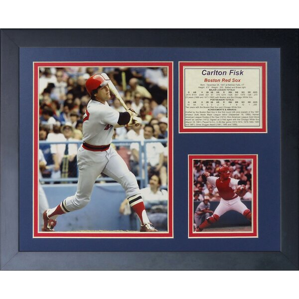 Carlton Fisk Framed Photographic Print by Legends Never Die