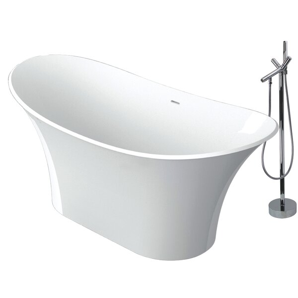 Anais 60 x 30 Freestanding Soaking Bathtub by Transolid