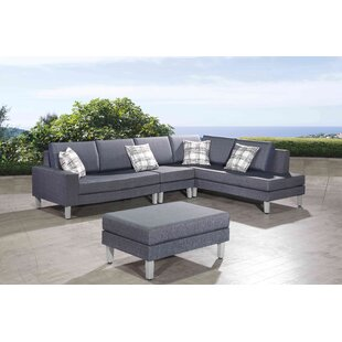 Pruitt 4 Piece Sectional Seating Group with Cushions by Orren Ellis