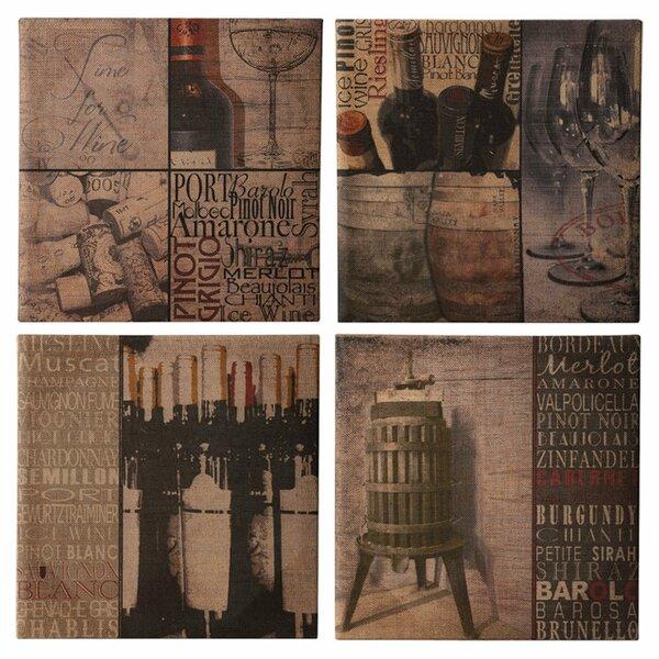 Botteille Graphic Art Set (Set of 4) by Evergreen Flag & Garden