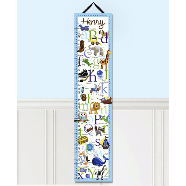 Alphabet Personalized Canvas Growth Chart by Toad and Lily