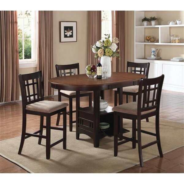 Renshaw 5 Piece Counter Height Dining Set by Winston Porter
