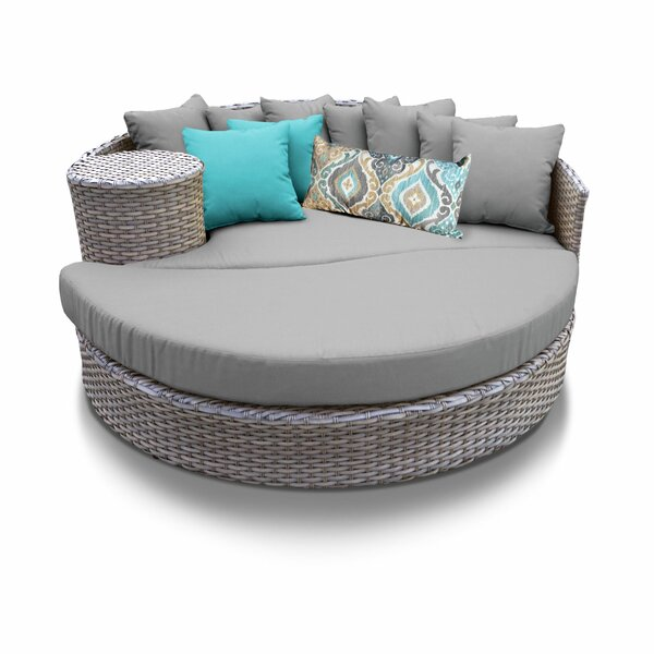 Medrano Patio Daybed with Cushions by Rosecliff Heights