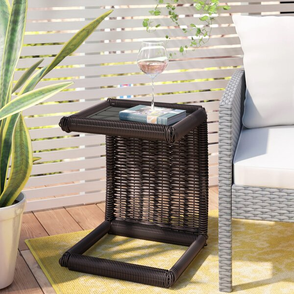 Fairfield Wicker Side Table by Sol 72 Outdoor