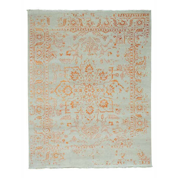 One-of-a-Kind Jude Broken Hand-Knotted Ivory Area Rug by Bungalow Rose