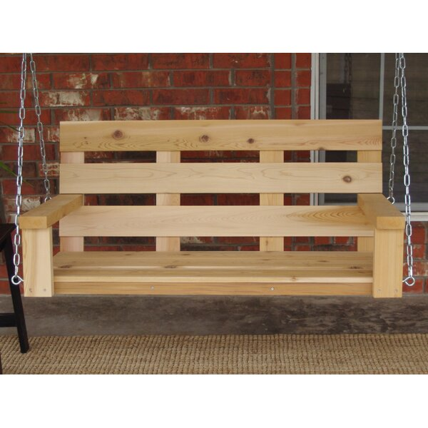 Fransen Homestead Style Porch Swing by Millwood Pines Millwood Pines