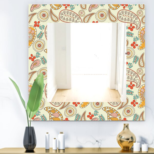 Paisley 1 Bohemian and Eclectic Wall Mirror
