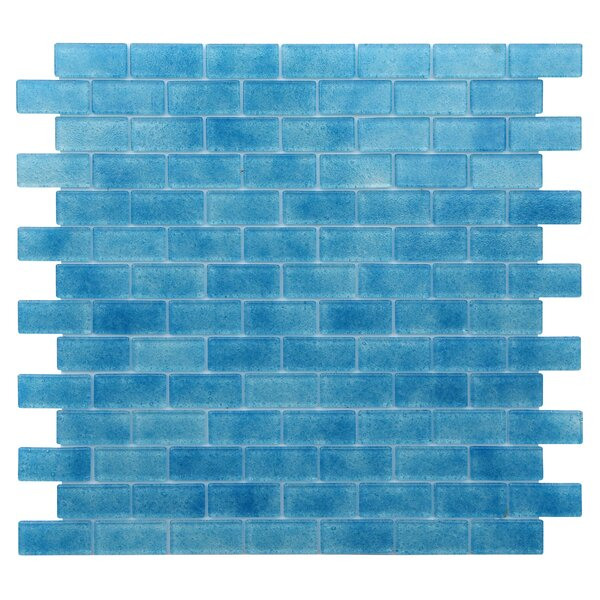 Quartz 0.75 x 1.63 Glass Mosaic Tile in Blue by Kellani