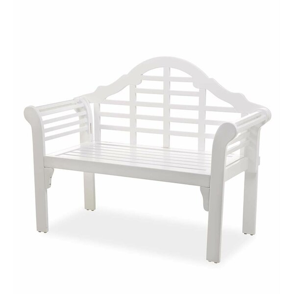 Lutyens Wooden Garden Bench by Plow & Hearth