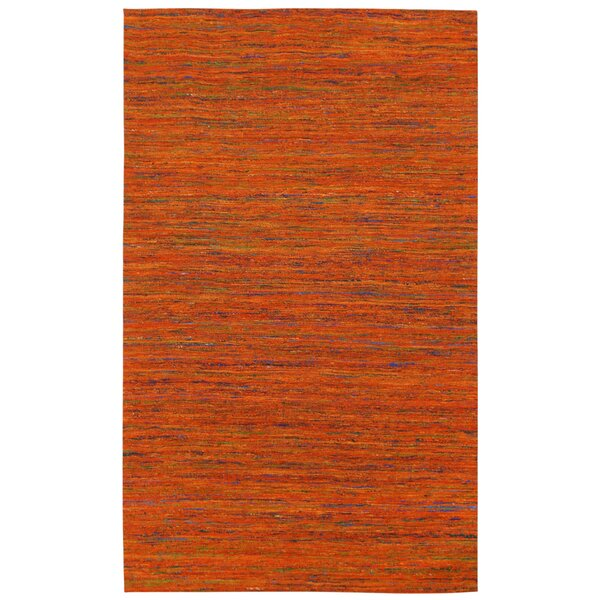 Sari Silk Handmade Orange Area Rug by St. Croix