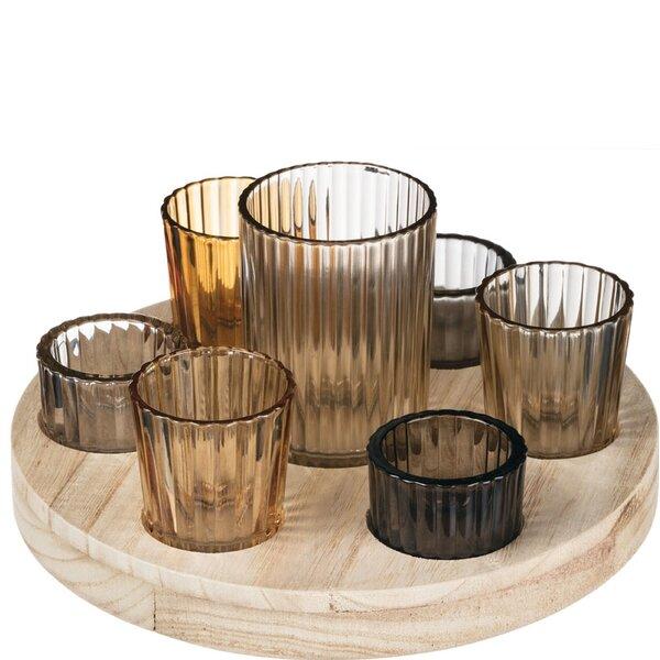 7 Piece Glass Votive Holder Set by Bungalow Rose