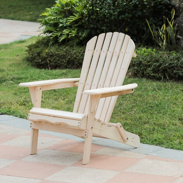 Aydin Solid Wood Folding Adirondack Chair by Highland Dunes Highland Dunes