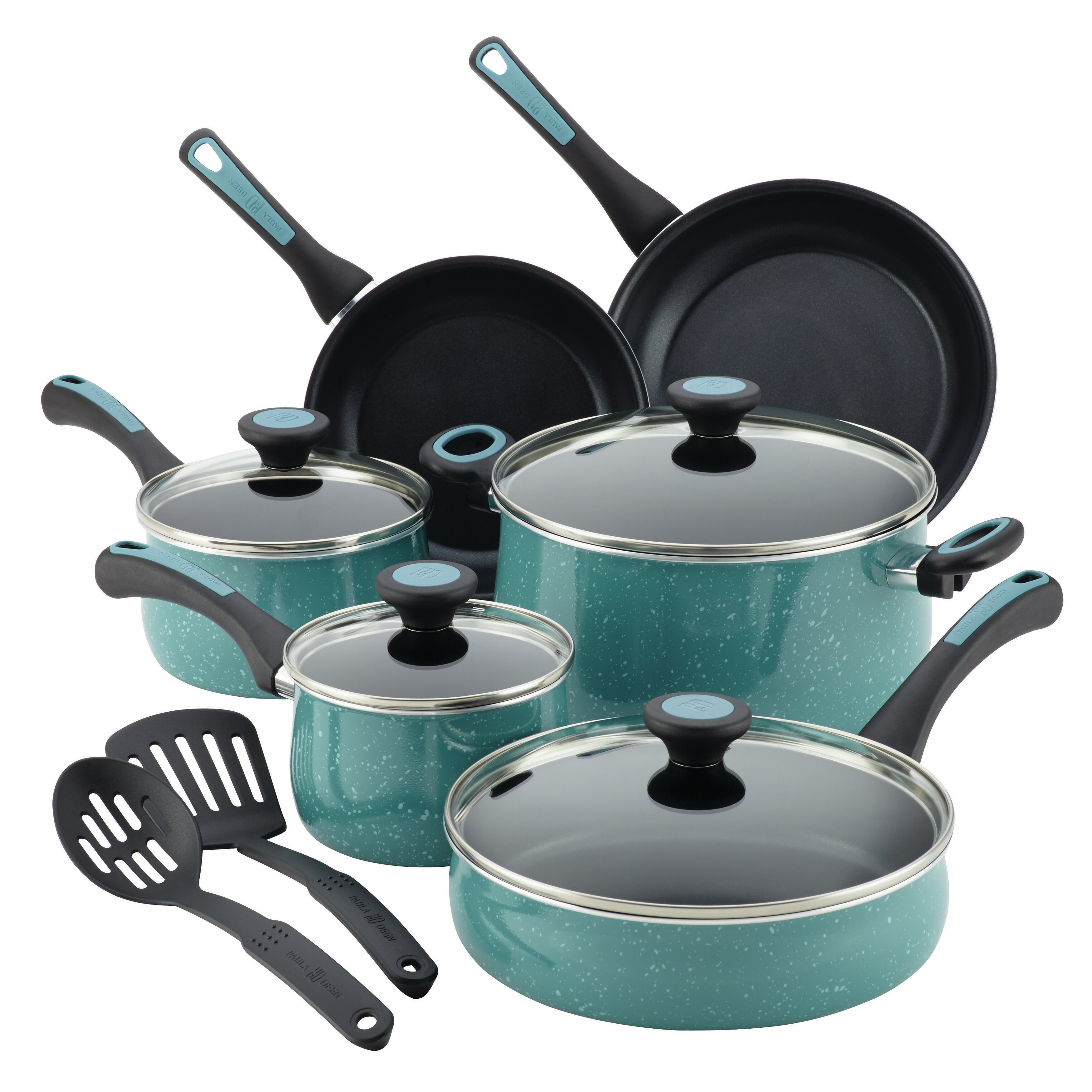 Paula Deen Riverbend Aluminum 12 Piece Nonstick Cookware Set ...