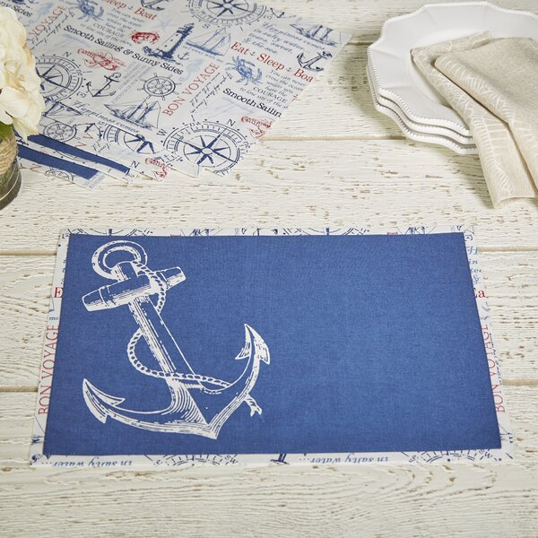 Main Anchor Placemats (Set of 6) by Birch Lane™