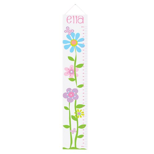 Personalized Gift Kids Canvas Height Growth Chart by JDS Personalized Gifts