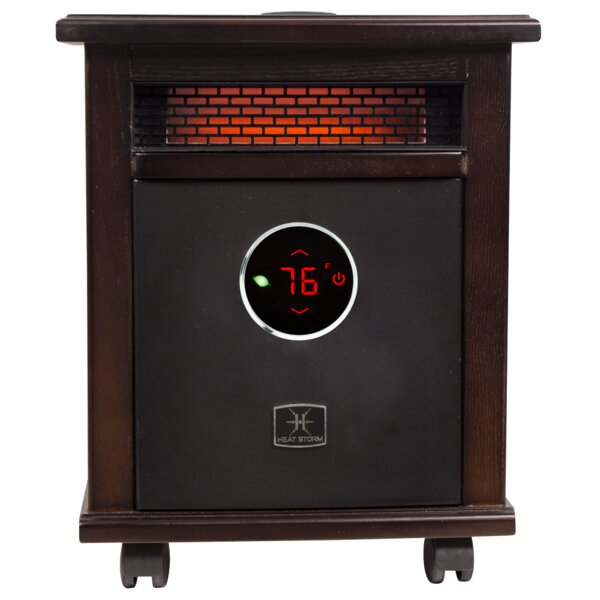 Logan Deluxe Portable 1,500 Watt Electric Infrared Cabinet Heater With Bluetooth By Heat Storm