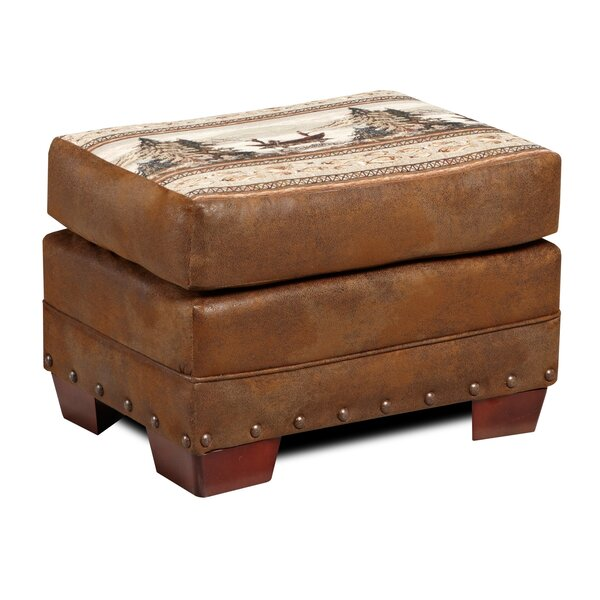 Charlie Alpine Ottoman by Millwood Pines