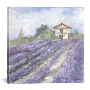 Lavender Fields Painting Print on Wrapped Canvas by Lark Manor