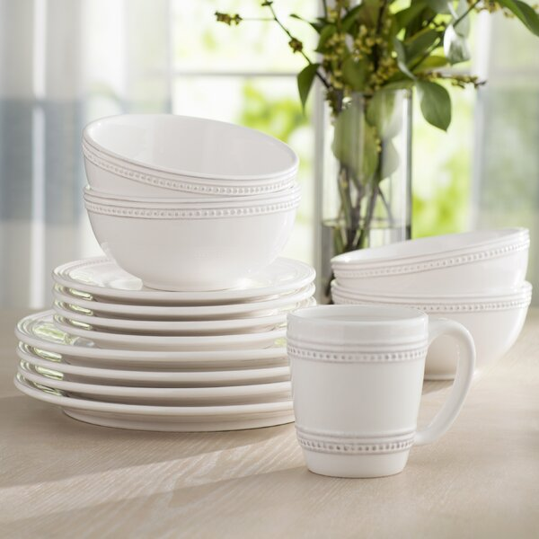 Hauser 16 Piece Dinnerware Set, Service for 4 by Laurel Foundry Modern Farmhouse