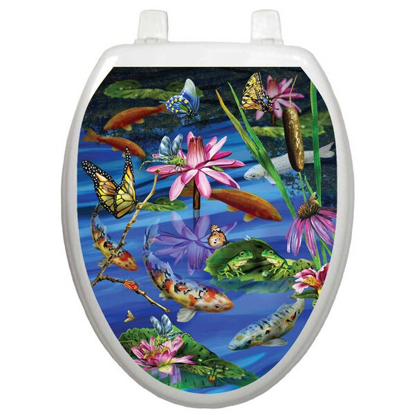 Themes Koi Fish Toilet Seat Decal by Toilet Tattoos