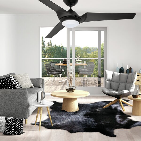 60 Straus Sweep Eco 3 Blade LED Ceiling Fan by Orren Ellis