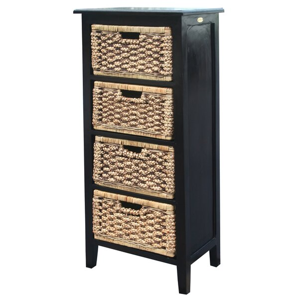 Water Hyacinth 4 Drawer Lingerie Chest by Chic Teak