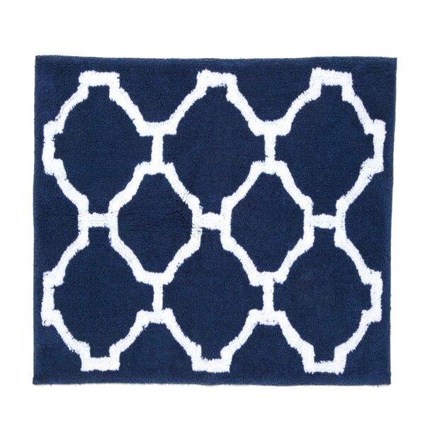 Hampton Links Rectangle 100% Cotton Geometric Bath Rug