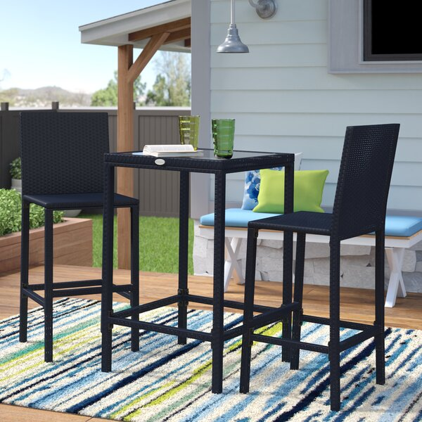 Hadlee 3 Piece Bar Height Dining Set by Ivy Bronx
