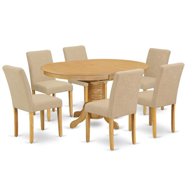 Dorene 7 Piece Extendable Solid Wood Dining Set by Alcott Hill Alcott Hill