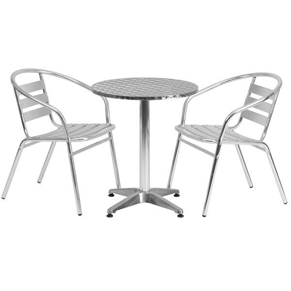 Kalavasos Round Indoor and Outdoor 3 Piece Bistro Set by Ebern Designs