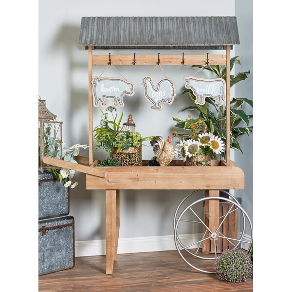 Traditional Roofed Flower/Wheelbarrow Planter by Cole & Grey