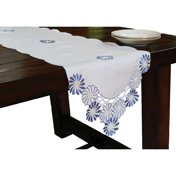 Cutwork Embroidered Flower Table Runner by Xia Home Fashions