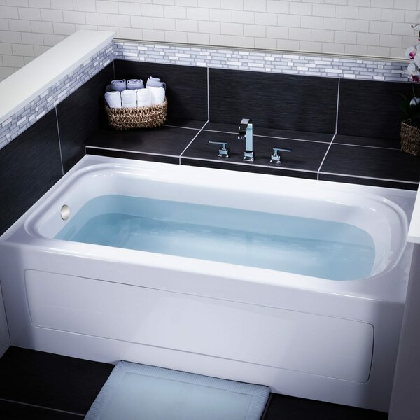 Indulgence 60 x 32 Three Wall Alcove Soaking Bathtub by Miseno