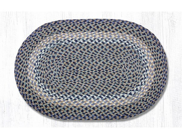 Blue/Natural Braided Area Rug by Earth Rugs