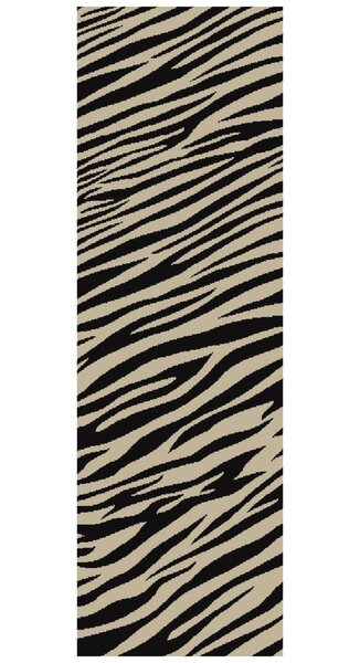 Strickland Ivory/Black Area Rug by World Menagerie